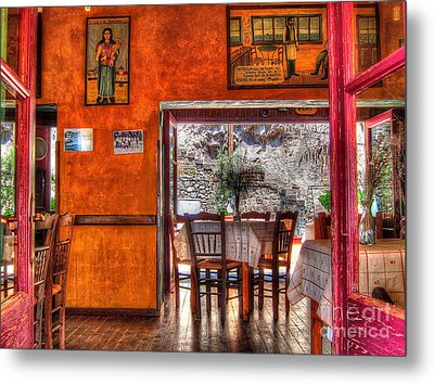 Cafe Municipal Metal Print