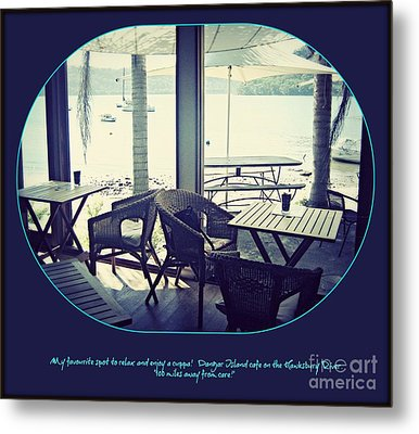 Cafe On The River Metal Print