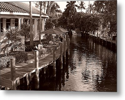 Metal Print featuring the photograph Cafe Outdoors by Lorenzo Cassina