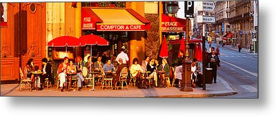 Cafe, Paris, France Metal Print by Panoramic Images