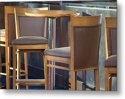 Metal Print featuring the photograph Cafe by Patricia Babbitt