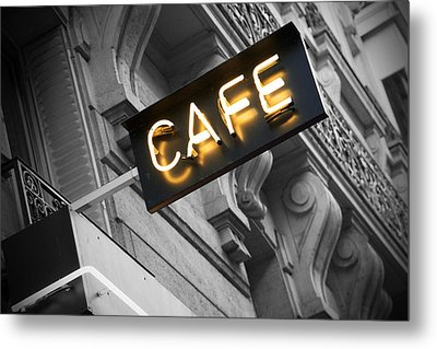 Cafe Sign Metal Print