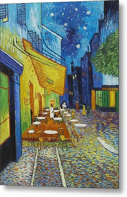 Cafe Terrace At Night Metal Print by Georgia Fowler