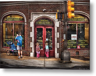 Cafe - The Italian Bakery Metal Print by Mike Savad