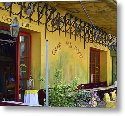 Metal Print featuring the photograph Cafe Van Gogh by Allen Sheffield