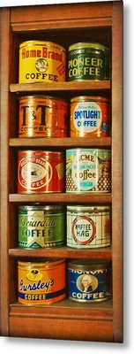 Caffe Retro No. 3 Metal Print