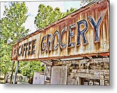 Caffee Grocery Metal Print by Scott Pellegrin