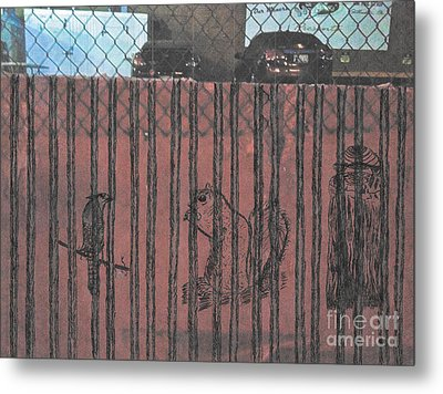 Caged Animals Metal Print by David Heid