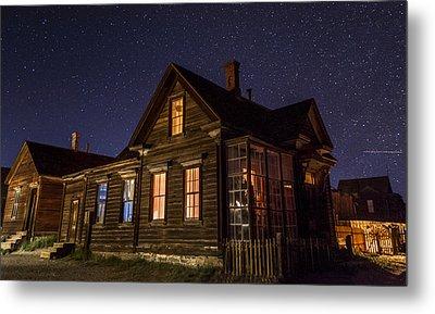 Cain House At Night Metal Print