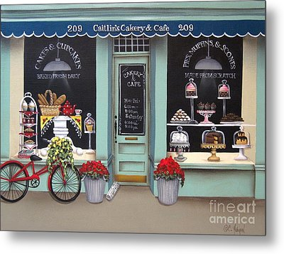 Caitlin's Cakery And Cafe Metal Print by Catherine Holman