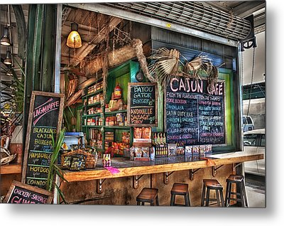 Cajun Cafe Metal Print by Brenda Bryant