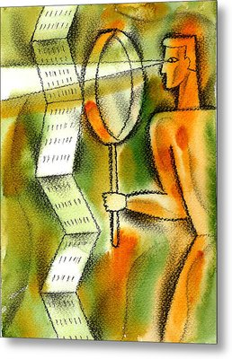 Calculation Metal Print by Leon Zernitsky