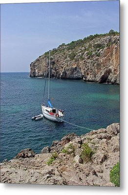 Cales Coves Metal Print by Rod Johnson
