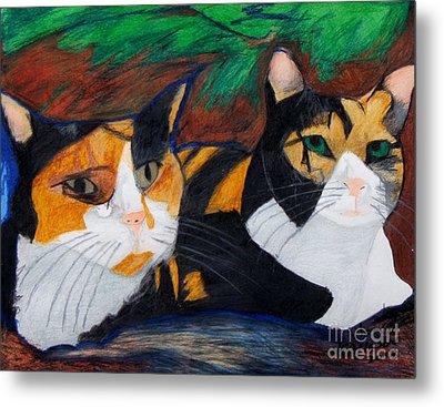 Calico Cats Metal Print