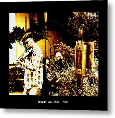 California Street Music Metal Print by Joseph Coulombe