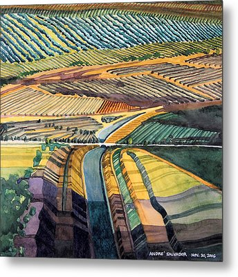 California Aqueduct Metal Print