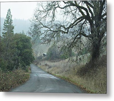 California Back Country Road Metal Print by Judy  Johnson