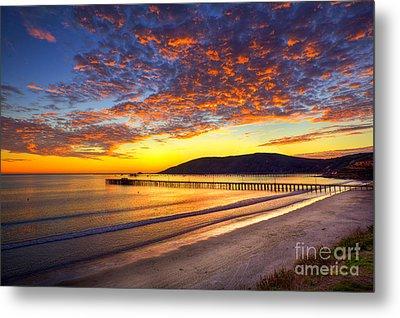 Avila Beach Sunset Metal Print