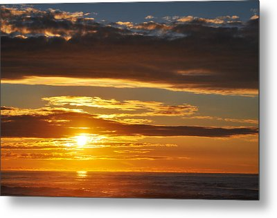 Metal Print featuring the photograph California Central Coast Sunset by Kyle Hanson