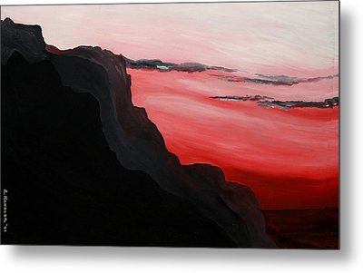 California Coastal Dusk Metal Print