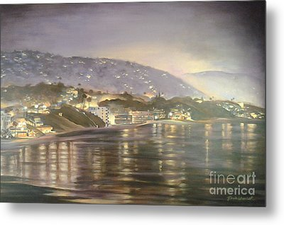 Metal Print featuring the painting California Coastal by Renee Womack