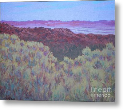 Metal Print featuring the painting California Dry River Bed by Suzanne McKay