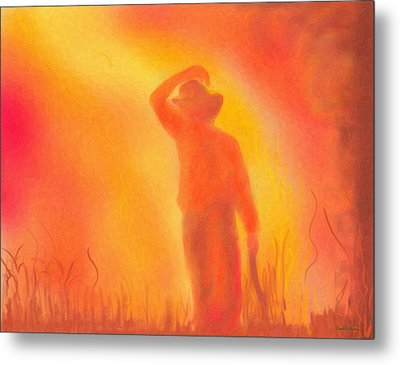 California Fires Metal Print by Angela A Stanton