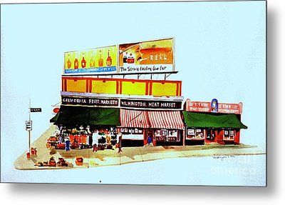 California Fruit Market Metal Print