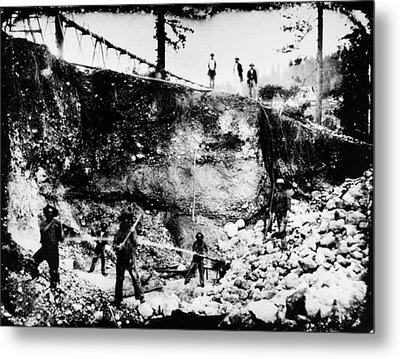 California: Mining, 1850s Metal Print