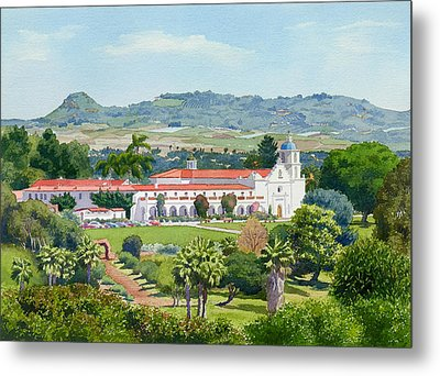 California Mission San Luis Rey Metal Print by Mary Helmreich