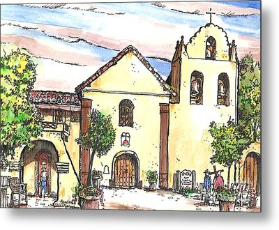 California Mission-santa Ines Metal Print