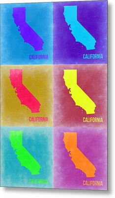 California Pop Art Map 2 Metal Print
