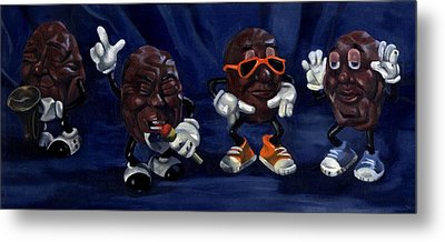 California Raisins Metal Print