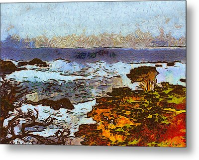California Seascape Metal Print by Barbara Snyder