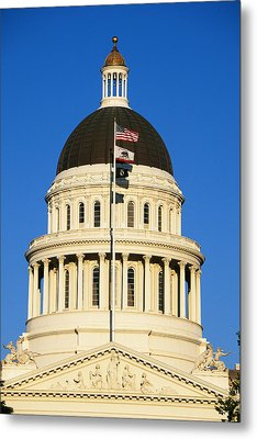 California State Capitol Building Metal Print by Panoramic Images