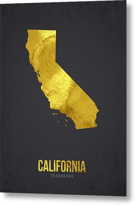 California The Golden State Metal Print by Aged Pixel
