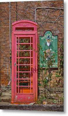 Call Me - Abandoned Phone Booth Metal Print by Kay Pickens