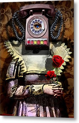 Call Me Sometime Metal Print by Larry Butterworth
