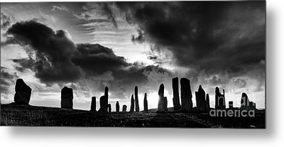 Callanish Standing Stones Monochrome Metal Print by Tim Gainey