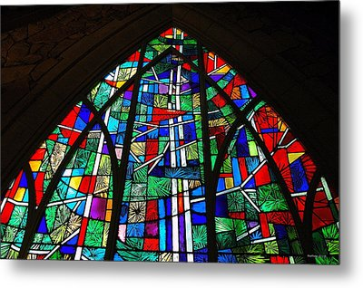 Callaway Gardens Chapel Stained Glass Metal Print