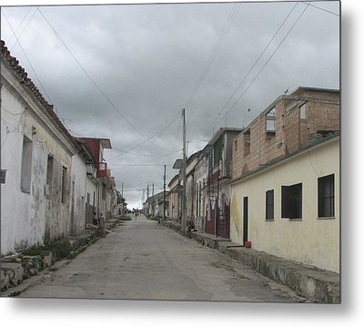 Metal Print featuring the photograph Calle Cubana by Aurora Levins Morales