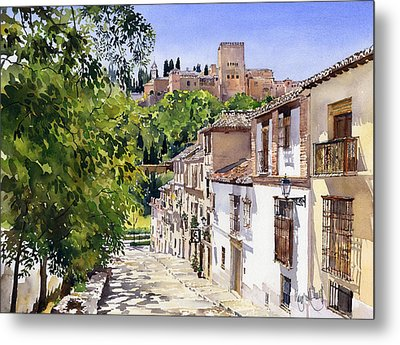 Calle Victoria Granada Metal Print by Margaret Merry