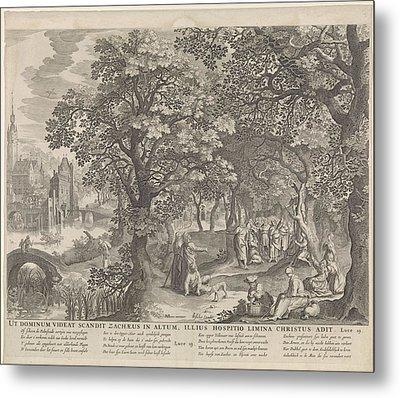 Calling Of Zacchaeus, Anonymous, Nicolaes Visscher II Metal Print