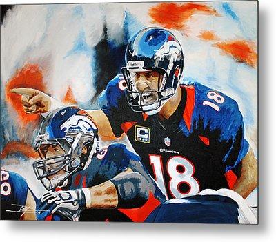 Peyton Manning Metal Print by Don Medina