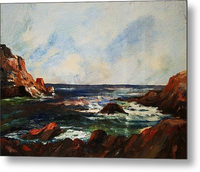 Metal Print featuring the painting Calm Cove by Al Brown