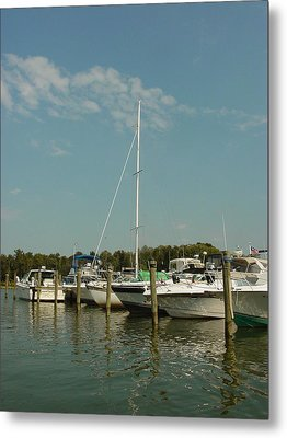 Metal Print featuring the photograph Calm Day At The Marina by Dorothy Maier