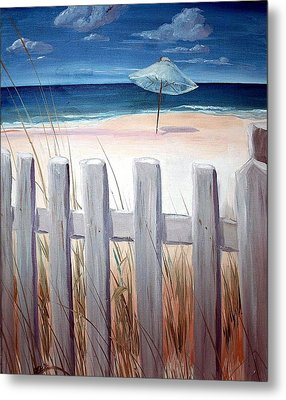 Calm Day At The Seashore Metal Print by Bernadette Krupa