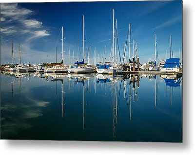 Calm Masts Metal Print by James Eddy