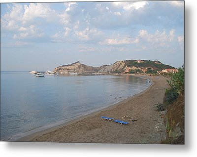 Metal Print featuring the photograph Calm Sea by George Katechis