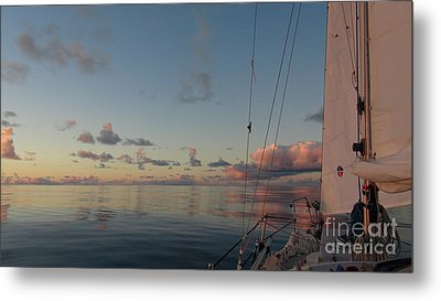 Metal Print featuring the photograph Calm Seas by Laura  Wong-Rose